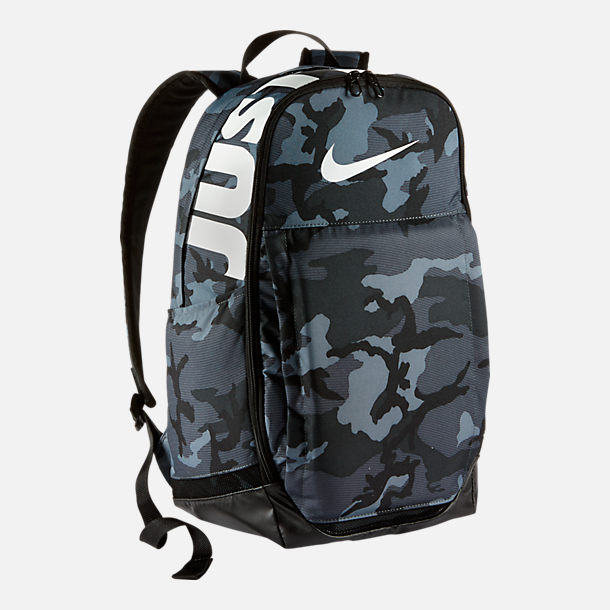 Front view of Nike Brasilia (Extra Large) Training Backpack in Cool Grey/Black