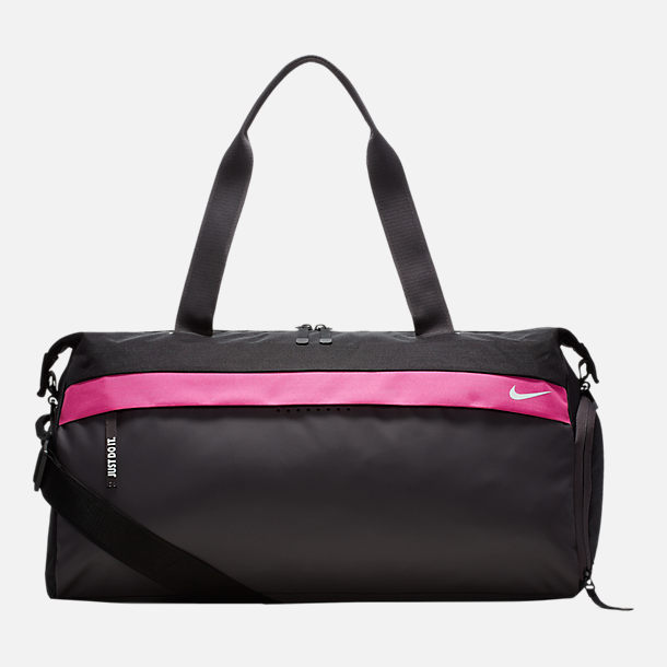 Front view of Nike Radiate Training Club Bag in Black/Thunder Grey
