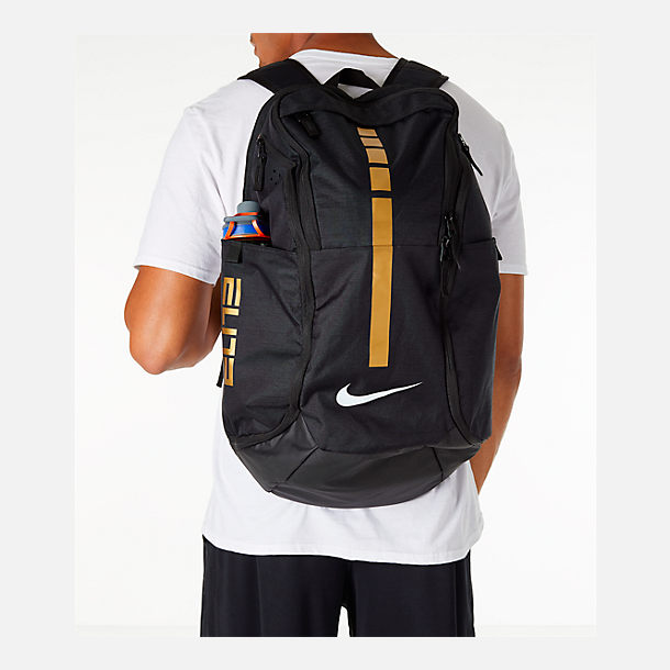 Alternate view of Nike Hoops Elite Pro Backpack in Black/Metallic Gold/White
