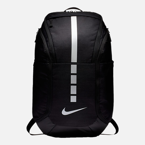 Front view of Nike Hoops Elite Pro Backpack in Black Black Metallic Grey 8ff8836b6e9d2