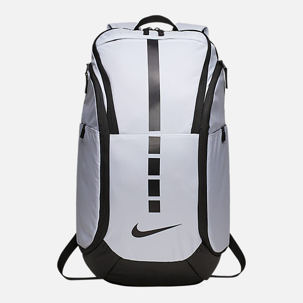 Front view of Nike Hoops Elite Pro Backpack in White/Black