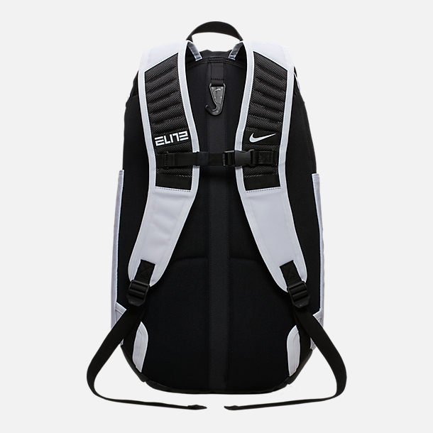 Back view of Nike Hoops Elite Pro Backpack in White/Black