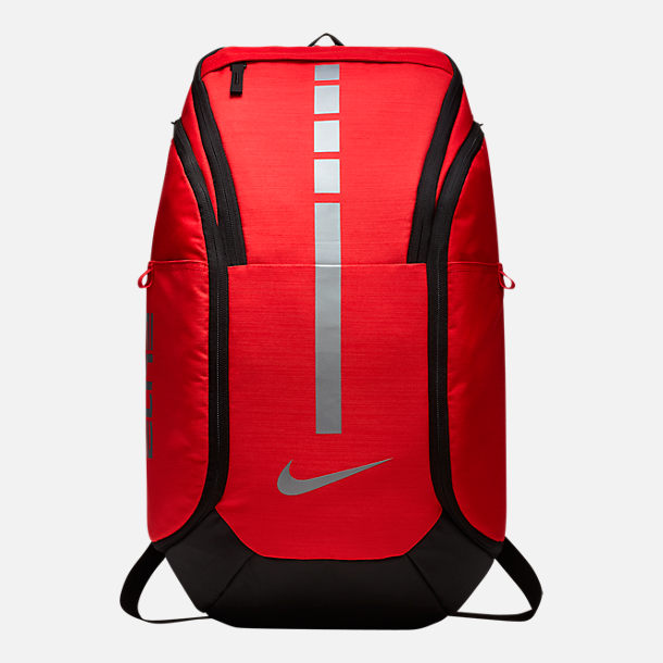 Front view of Nike Hoops Elite Pro Backpack in University Red