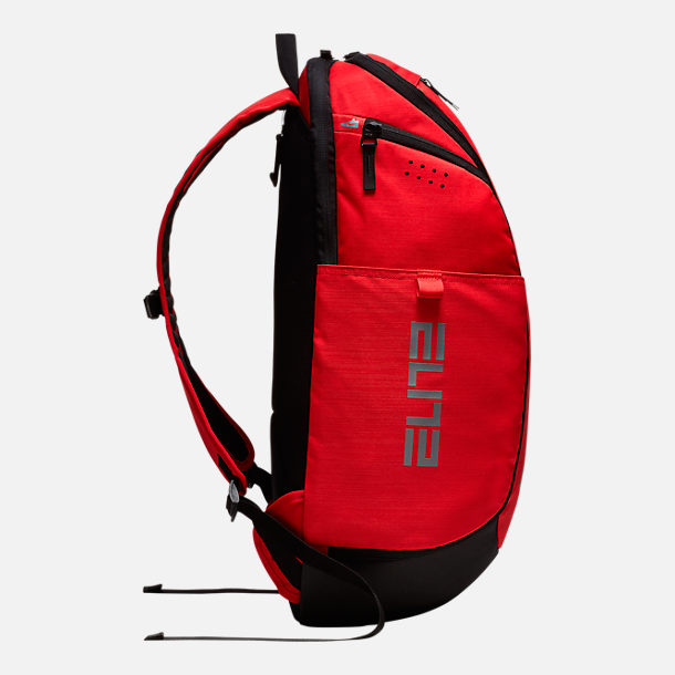 Back view of Nike Hoops Elite Pro Backpack in University Red
