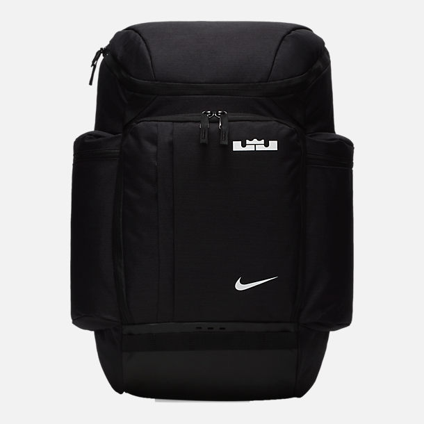 Front view of Nike LeBron Backpack in Black White 3aa88e701fed2