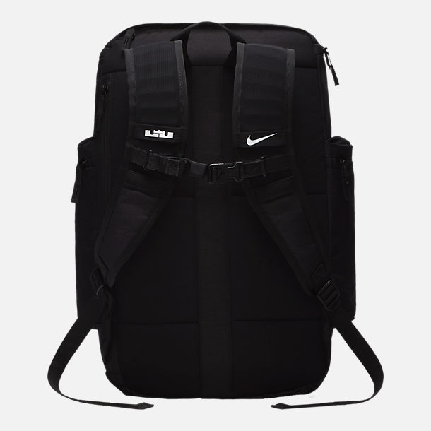 Back view of Nike LeBron Backpack in Black/White