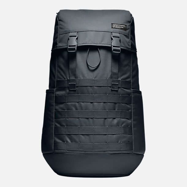Front view of Unisex Nike Sportswear AF-1 Backpack in Black/Black