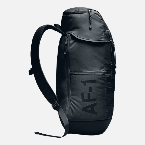 Back view of Unisex Nike Sportswear AF-1 Backpack in Black/Black
