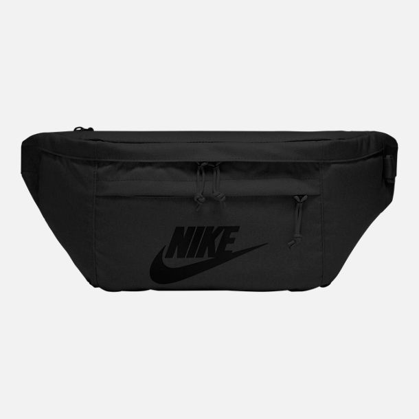 Front view of Nike Tech Hip Pack in Black Anthracite