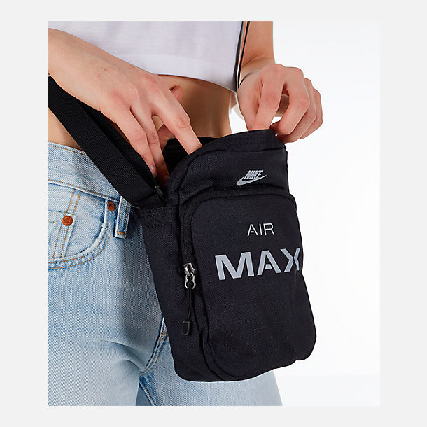 Alternate view of Nike Air Max Small Items Crossbody Bag in Black/Wolf Grey