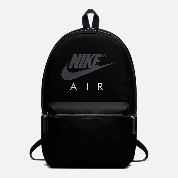 Front view of Nike Air Backpack in Black White bd52a260ba9ca