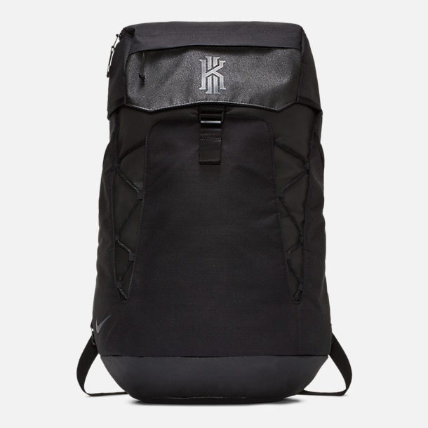 Front view of Nike Kyrie Backpack in Black/Black Reflective