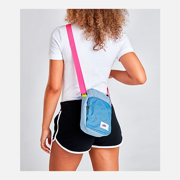 Alternate view of Nike Heritage Small Items Crossbody Bag in Indigo Fog/Indigo Fog/Laser Fuchsia