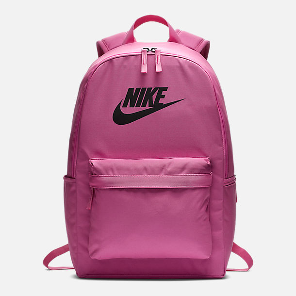 Front view of Nike Heritage 2.0 Backpack in China Rose/Black