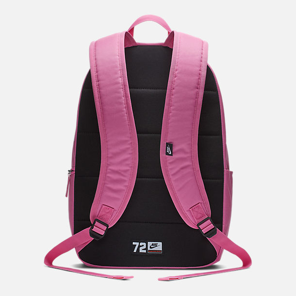 Back view of Nike Heritage 2.0 Backpack in China Rose/Black