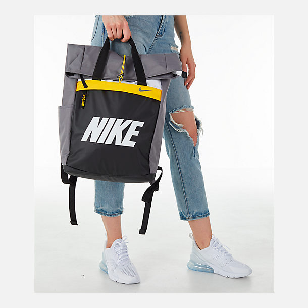 Alternate view of Women s Nike Radiate Training Graphic Backpack in  Gunsmoke Amarillo White 93cef404d2615