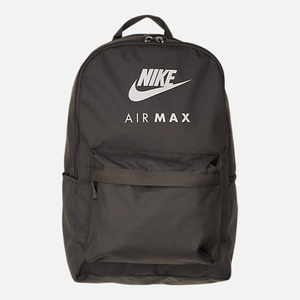 Front view of Nike Heritage Backpack in Newsprint/Black/Silver