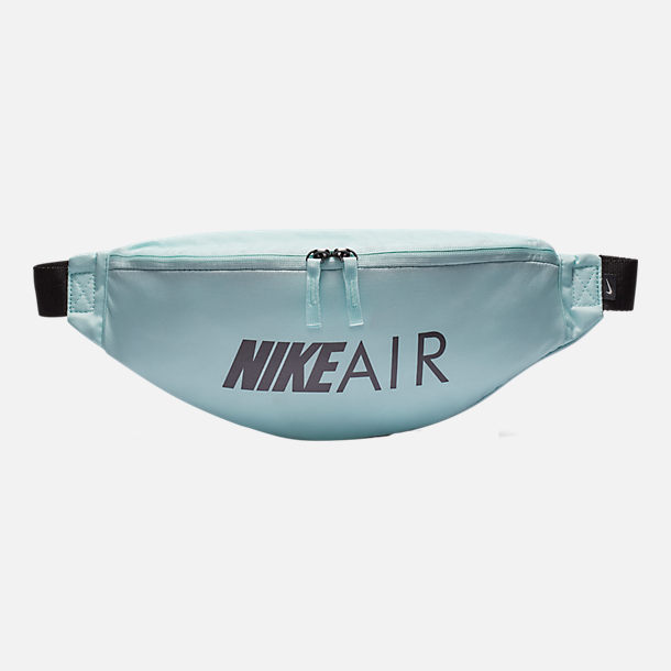 Front view of Nike Air Heritage Hip Pack in Teal Tint/Black