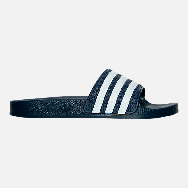 Right view of Boys' Grade School adidas adilette Slide Sandals in Legend Ink/White