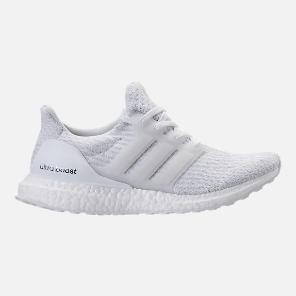 Right view of Women's adidas UltraBOOST Running Shoes in White/White/Crystal White