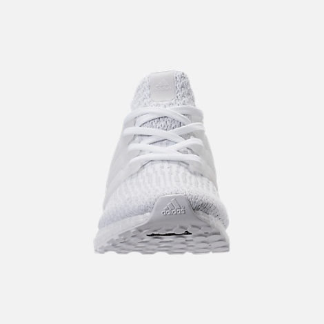 Front view of Women's adidas UltraBOOST Running Shoes in White/White/Crystal White