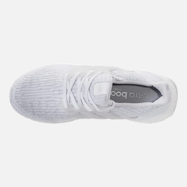 Top view of Women's adidas UltraBOOST Running Shoes in White/White/Crystal White