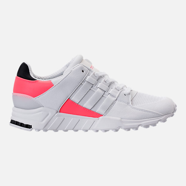 Right view of Men's adidas EQT Support Refine Casual Shoes in White/White/Turbo