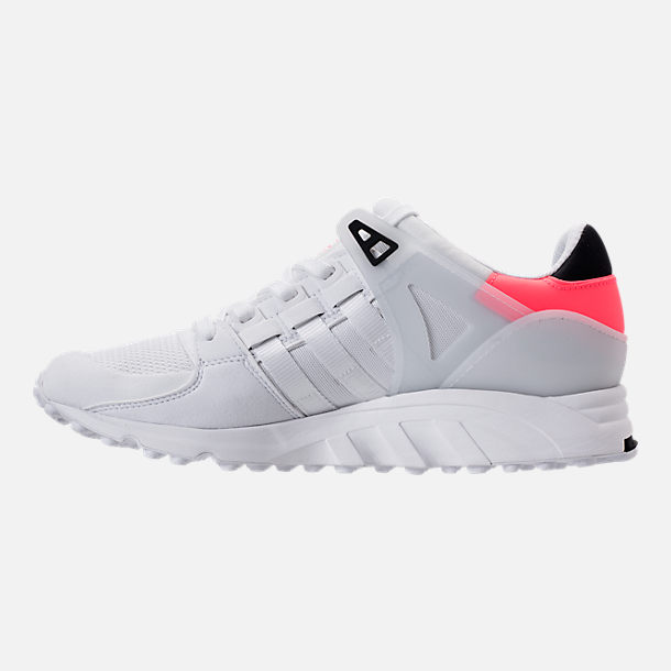 Left view of Men's adidas EQT Support Refine Casual Shoes in White/White/Turbo