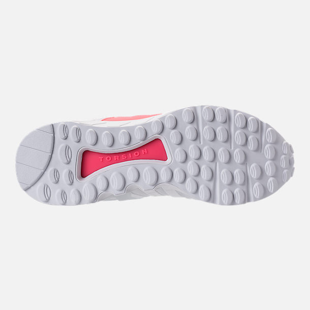 Bottom view of Men's adidas EQT Support Refine Casual Shoes in White/White/Turbo