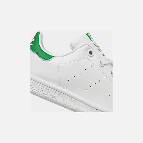 Front view of Little Kids' adidas Originals Stan Smith Casual Shoes in White/Fairway