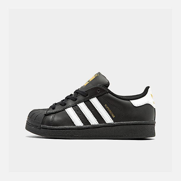 Right view of Kids' Preschool adidas Superstar Casual Shoes in Black/White