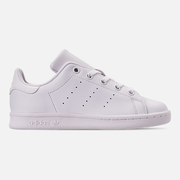 Right view of Boys' Little Kids' adidas Originals Stan Smith Hook-and-Loop Closure Casual Shoes in White