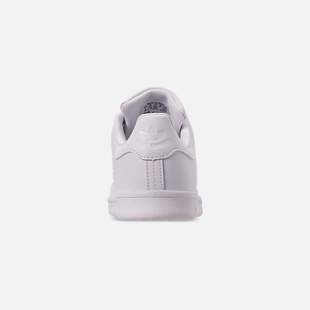 Back view of Boys' Little Kids' adidas Originals Stan Smith Hook-and-Loop Closure Casual Shoes in White