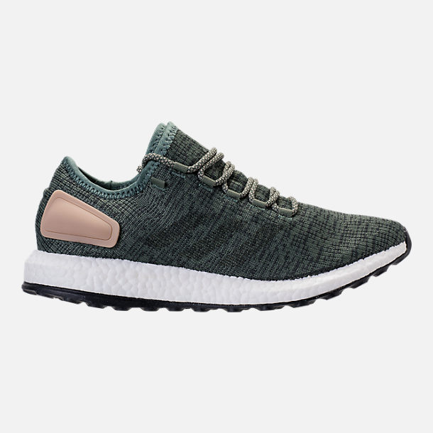 Right view of Men's adidas PureBOOST Running Shoes in Trace Green/Night Cargo/Utility Ivy