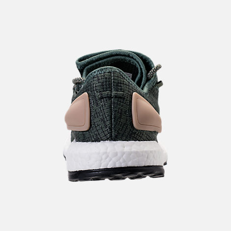 Back view of Men's adidas PureBOOST Running Shoes in Trace Green/Night Cargo/Utility Ivy