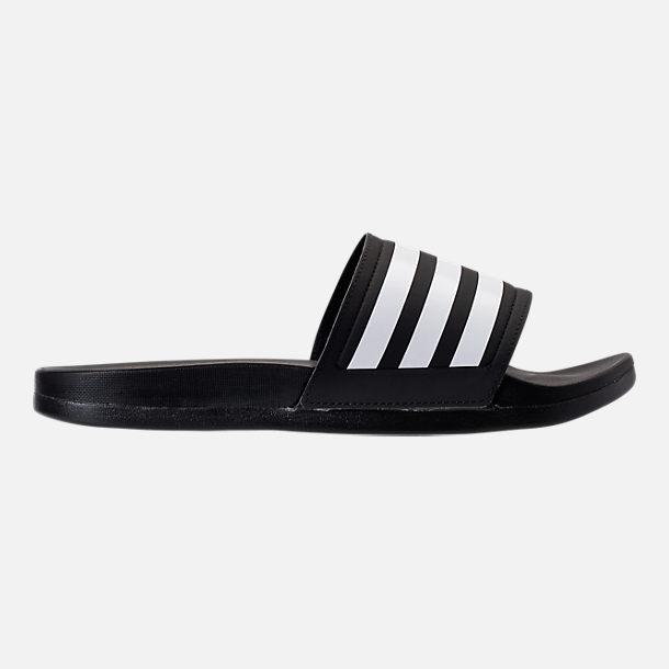 Women's adidas adilette Cloudfoam Plus Slide Sandals Black/White AP9966 BLK