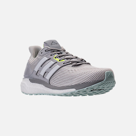 Three Quarter view of Women's adidas Supernova Boost Running Shoes in Light Solid Grey/White