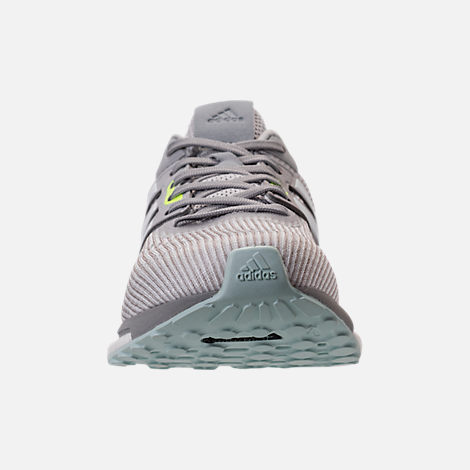Front view of Women's adidas Supernova Boost Running Shoes in Light Solid Grey/White
