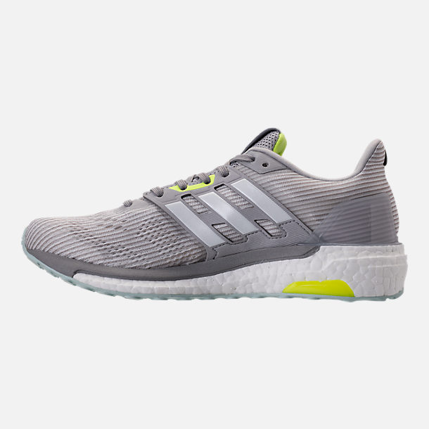 Left view of Women's adidas Supernova Boost Running Shoes in Light Solid Grey/White