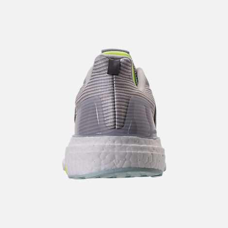 Back view of Women's adidas Supernova Boost Running Shoes in Light Solid Grey/White