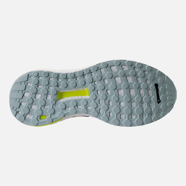 Bottom view of Women's adidas Supernova Boost Running Shoes in Light Solid Grey/White