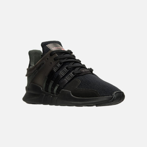Three Quarter view of Men's adidas EQT Support ADV Casual Shoes in Triple Black