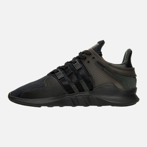 Left view of Men's adidas EQT Support ADV Casual Shoes in Triple Black