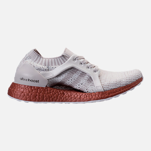 Right view of Women's adidas UltraBOOST X LTD Running Shoes in Crystal White/Ice Purple/Tech Rust