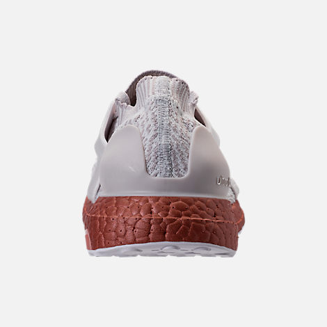 Back view of Women's adidas UltraBOOST X LTD Running Shoes in Crystal White/Ice Purple/Tech Rust