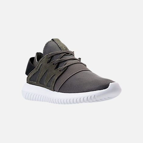 Three Quarter view of Women's adidas Originals Tubular Viral Casual Shoes in Tactile Blue/White