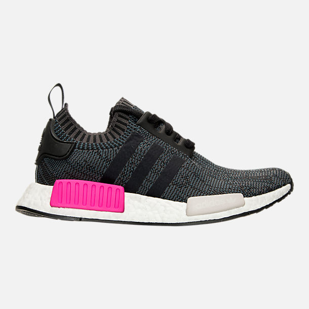 Right view of Women's adidas NMD XR1 Primeknit Casual Shoes in Black/Shock Pink