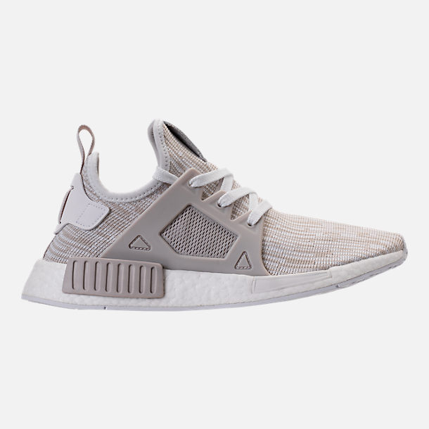 Right view of Women's adidas NMD XR1 Primeknit Casual Shoes in White/Neutral