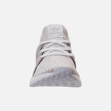 Front view of Women's adidas NMD XR1 Primeknit Casual Shoes in White/Neutral