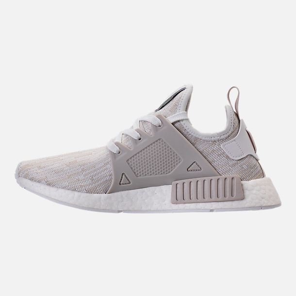 Left view of Women's adidas NMD XR1 Primeknit Casual Shoes in White/Neutral